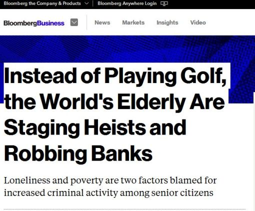 Elderly Crime Rates Increase - Bloomberg Business'e