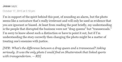 Dreher trans drag